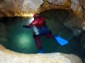 Jezírko na Skalistém potocePotápění v jeskyních, Slovenský kras