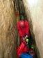 Pro strojení potápěčů puklina nad hladinou zrovna místem neoplýváfoto (c) Chmel
